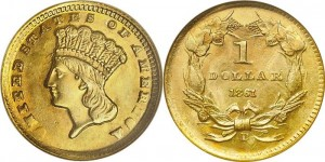 Indian Gold Dollar Type 3