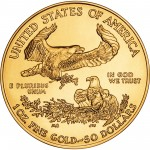 Gold Eagle Coin Back