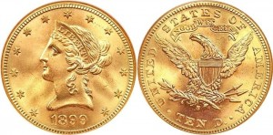 10 Dollar Lady Liberty Gold Coin